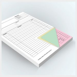 4 Part NCR Pad Printing