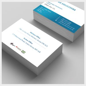 450GSM - Quality Business Cards with Gloss or Matt Lamination