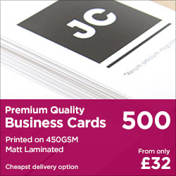 500 - 450gsm Matt Laminated Business Cards